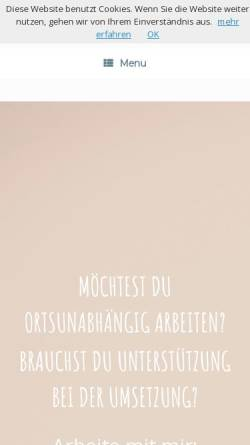 Vorschau der mobilen Webseite christianefrick.de, Lifestyle Business 45+