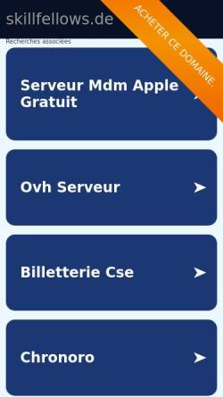 Vorschau der mobilen Webseite www.skillfellows.de, SkillFellows UG