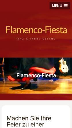 Vorschau der mobilen Webseite www.flamenco-fiesta.de, Flamenco-Fiesta