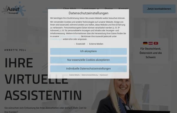 Vorschau von www.assist-bueromanagement.com, Assist Büromanagement