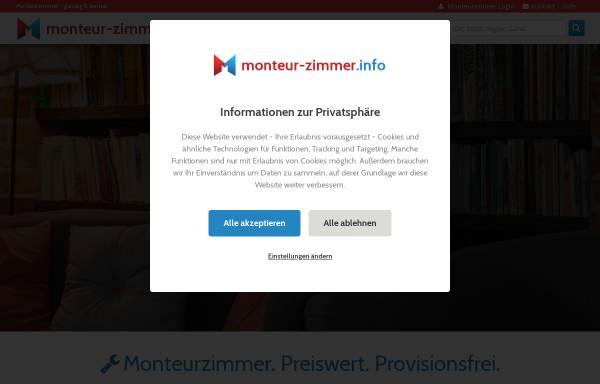 Vorschau von monteur-zimmer.info, Monteurzimmer - Florian Böttger & Georg Pieper GbR