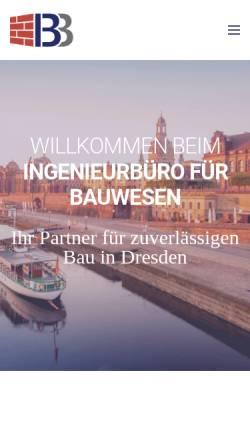 Vorschau der mobilen Webseite www.ibb-buechner.de, Ingenieurbüro für Bauwesen Dipl.-Ing. Claudia Büchner (FH)