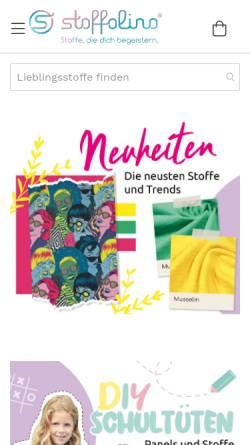 Vorschau der mobilen Webseite www.stoffolino.de, Stoffolino