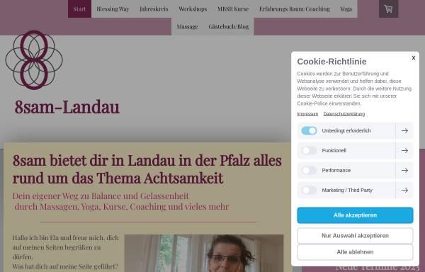 Vorschau von www.8sam-landau.de, 8sam - Manuela Klesy