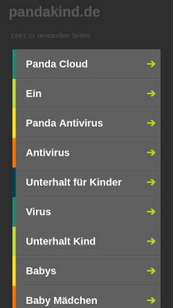 Vorschau der mobilen Webseite www.pandakind.de, Pandakind - Shewit Hadish & Julian Kusnawijaya Gbr