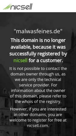 Vorschau der mobilen Webseite www.malwasfeines.de, MalWasFeines