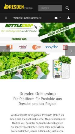 Vorschau der mobilen Webseite www.dresden-onlineshop.de, Dresden Onlineshop - RE Handels GmbH