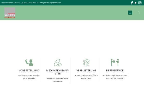Vorschau von www.sailers-apotheken.de, Dr. Sailers Römer Apotheke