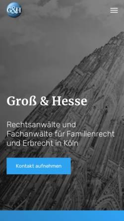 Vorschau der mobilen Webseite www.kanzlei-gh.de, Groß & Hesse Rechtsanwälte