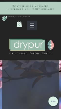 Vorschau der mobilen Webseite www.drypur.de, Drypur® Naturkosmetik