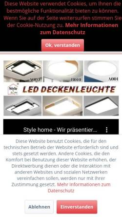 Vorschau der mobilen Webseite www.style-home.de, Style Home - Sinoma Europe GmbH