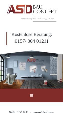Vorschau der mobilen Webseite renovierung-düsseldorf.de, ASD BauConcept - Renovierung Düsseldorf
