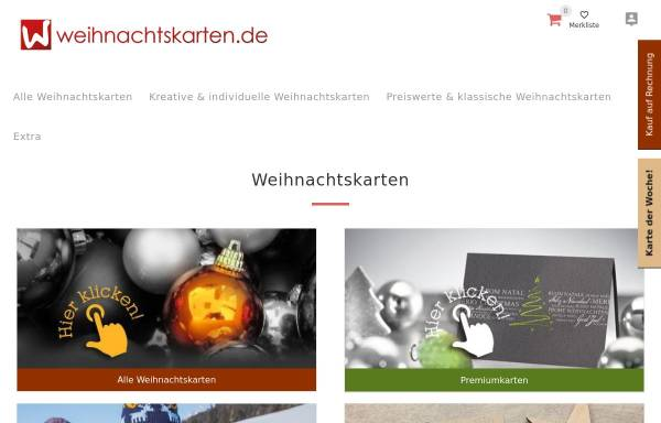 Vorschau von www.weihnachtskarten.de, Weihnachtskarten.de - Kallos Verlag und Versand GmbH