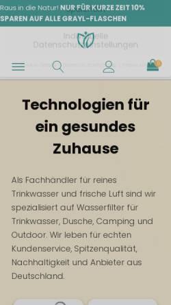 Vorschau der mobilen Webseite wasserhelden.net, Wasserhelden