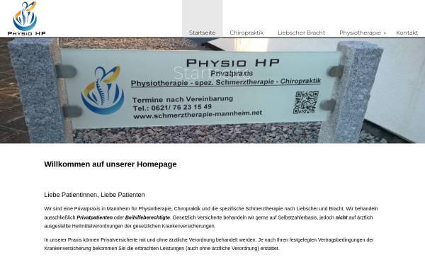 Vorschau von schmerztherapie-mannheim.net, Physio HP
