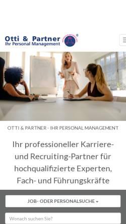 Vorschau der mobilen Webseite otti.at, Otti & Partner Management KG