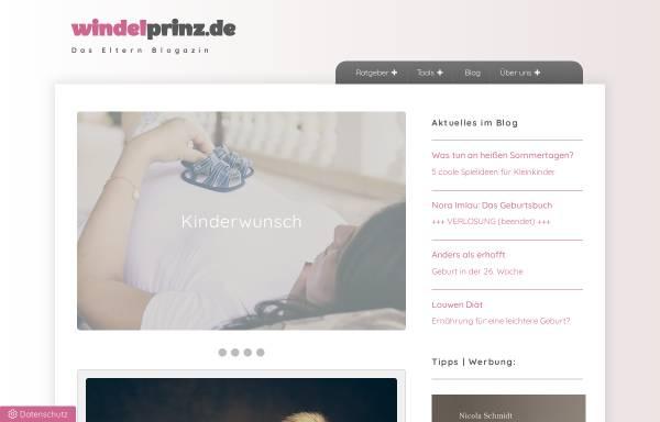 Vorschau von www.windelprinz.de, Windelprinz