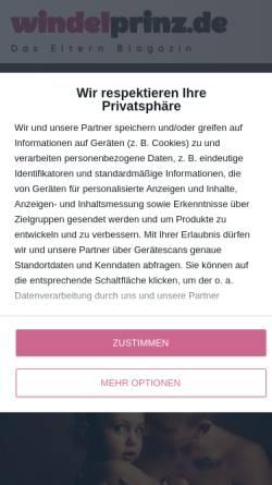 Vorschau der mobilen Webseite www.windelprinz.de, Windelprinz