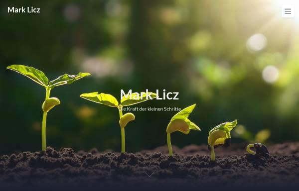 Vorschau von www.marklicz.com, MARK LICZ - Text & Buch