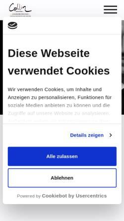 Vorschau der mobilen Webseite www.zauberer-collin.de, Zauberer Collin
