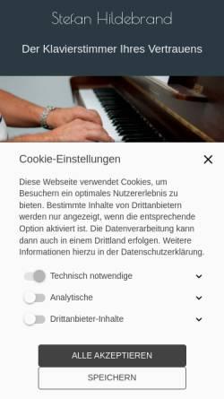 Vorschau der mobilen Webseite www.klavierstimmer-hildebrand.de, Klavierstimmer Hildebrand