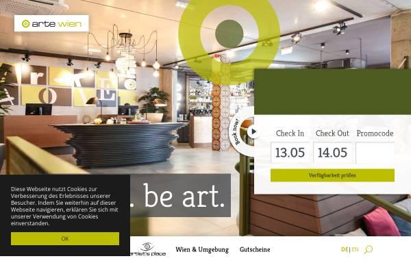 Vorschau von www.artewien.at, arte Hotel Wien