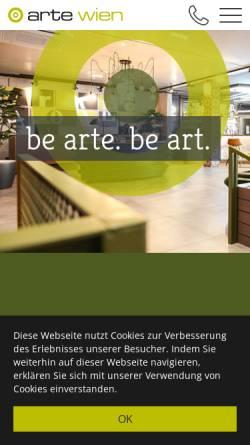 Vorschau der mobilen Webseite www.artewien.at, arte Hotel Wien
