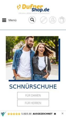 Vorschau der mobilen Webseite www.dufner-shop.de, Schuhhaus Dufner e.K.