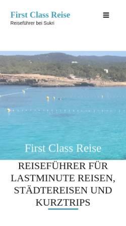 Vorschau der mobilen Webseite www.first-class-reise.de, First Class Reise