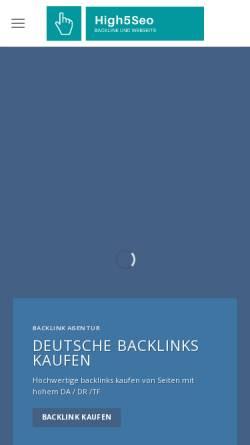 Vorschau der mobilen Webseite www.high5seo.de, High5seo!