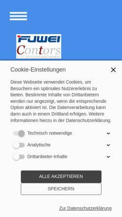 Vorschau der mobilen Webseite ctc-stickmaschinen.de, CTC Stickmaschine - Contors Einkaufsgesellschaft GbR