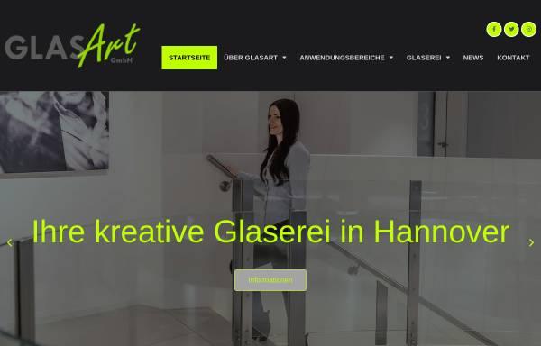Vorschau von www.glasartgmbh.de, Glaserei GlasArt GmbH