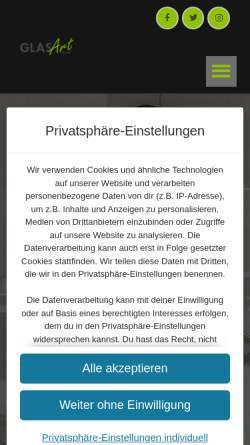 Vorschau der mobilen Webseite www.glasartgmbh.de, Glaserei GlasArt GmbH