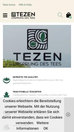 Vorschau der mobilen Webseite tezen.eu, TEZEN / Elena Westermeier
