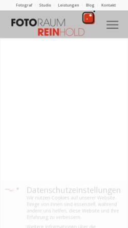 Vorschau der mobilen Webseite www.fotoraum-reinhold.de, Fotoraum Reinhold