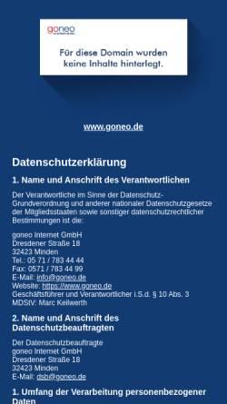 Vorschau der mobilen Webseite www.fotomf.de, fotoMF - Manfred Falk Fotografie