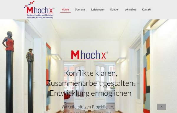 Vorschau von mhochx.com, M hoch x ®