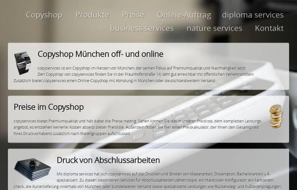 Vorschau von www.copyshop-muenchen.de, Copyservices