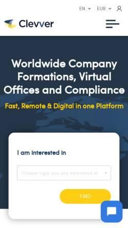 Vorschau der mobilen Webseite www.clevver.io, Clevver GmbH