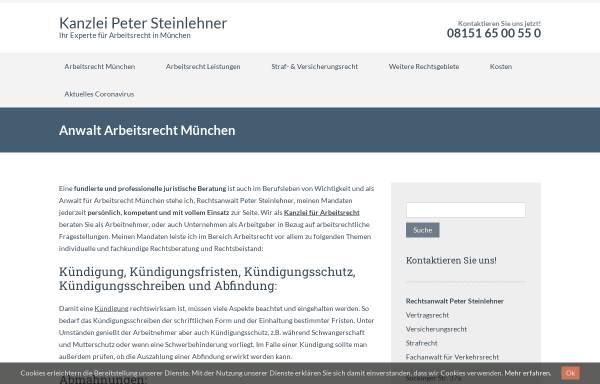 Vorschau von www.steinlehner.com, Rechtsanwalt Peter Steinlehner