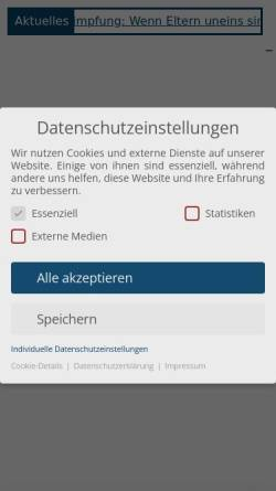 Vorschau der mobilen Webseite www.weinelt-collegen.de, Rechtsanwälte Dr. Weinelt & Collegen