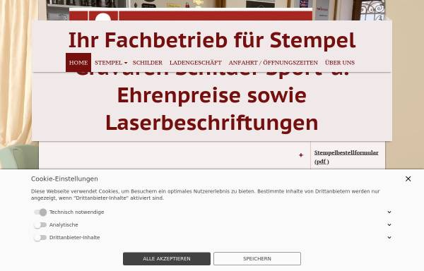 Vorschau von www.stempel-schmid.de, Stempel Schmid