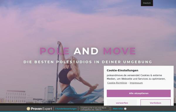 Vorschau von www.poleandmove.de, Pole and Move - Miriam Saroos