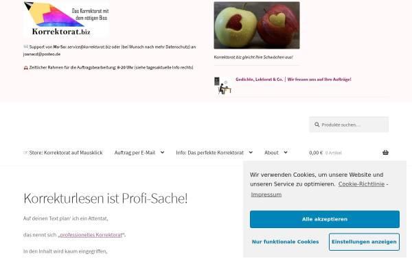 Vorschau von www.korrektorat24.com, Korrektorat24