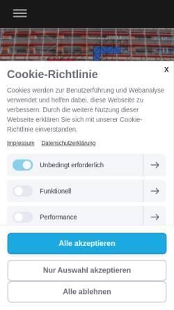 Vorschau der mobilen Webseite www.schmitz-geruestbau.de, Schmitz Gerüstbau GmbH