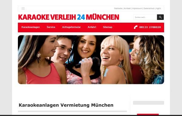 Vorschau von www.karaoke-verleih24-muenchen.de, Karaoke Verleih 24 München