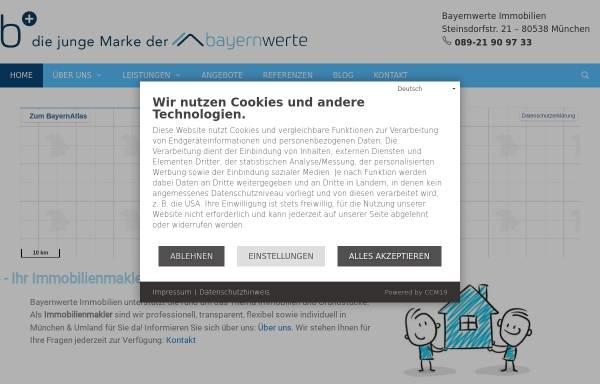Vorschau von www.bayernwerte.de, Bayernwerte Immobilien