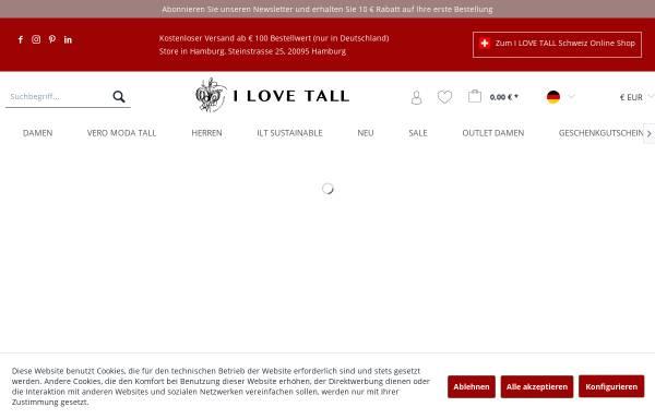 Vorschau von www.ilovetall.com, I LOVE TALL