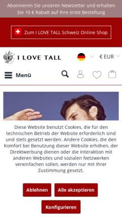 Vorschau der mobilen Webseite www.ilovetall.com, I LOVE TALL