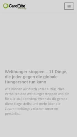 Vorschau der mobilen Webseite www.careelite.de, Carreelite